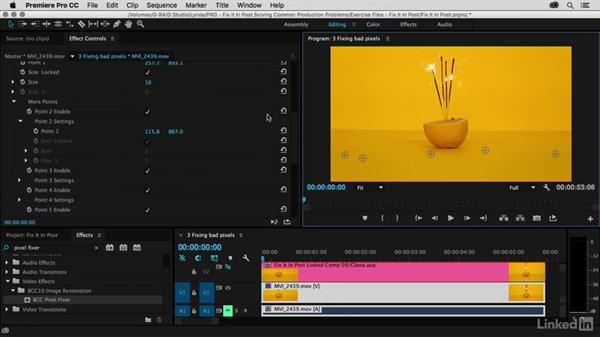 Use the BCC Pixel Fixer in Premiere Pro: Premiere Pro Guru: Fix It in Post