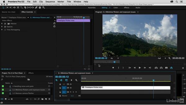 Use the clip to fix itself: Premiere Pro Guru: Fix It in Post