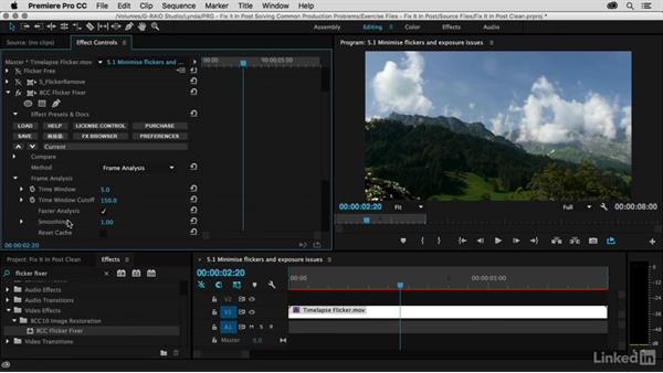 Work with S_FlickerRemove and BCC Flicker Fixer: Premiere Pro Guru: Fix It in Post