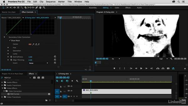 Skin touchup using Mask and Compound Blur: Premiere Pro Guru: Fix It in Post