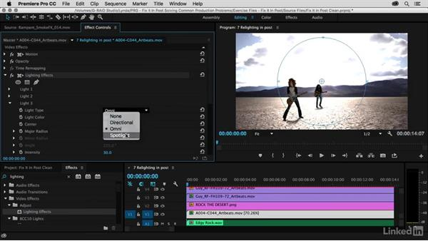 The built-in lighting effect: Premiere Pro Guru: Fix It in Post