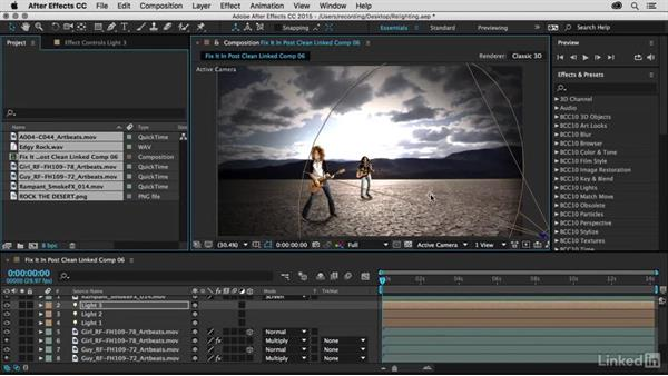 Use 3D lights in After Effects: Premiere Pro Guru: Fix It in Post