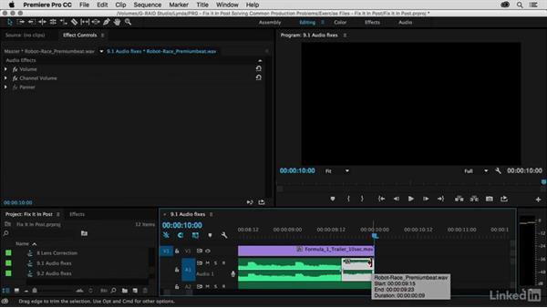 Create an audio breakdown using the reverb effect: Premiere Pro Guru: Fix It in Post