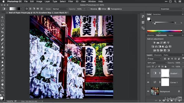 Applying a gradient map for toning: Advanced Photoshop: Lookup Tables and Gradient Maps