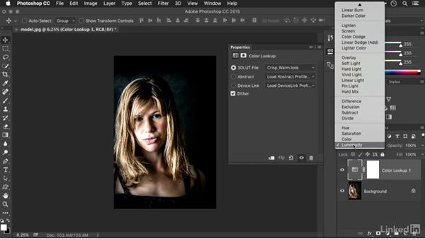 Refining LUTs and gradient maps with blending modes: Advanced Photoshop: Lookup Tables and Gradient Maps