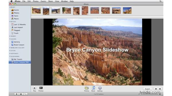 Adding an iPhoto slideshow: iDVD '09 Essential Training