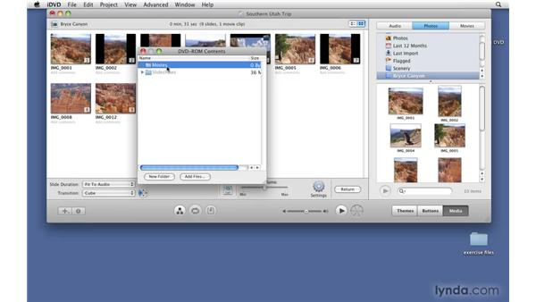 Adding DVD-ROM content: iDVD '09 Essential Training