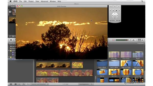 Importing movies from iMovie '09: iDVD '09 Essential Training