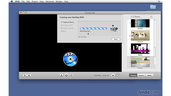 Creating a OneStep DVD: iDVD '09 Essential Training
