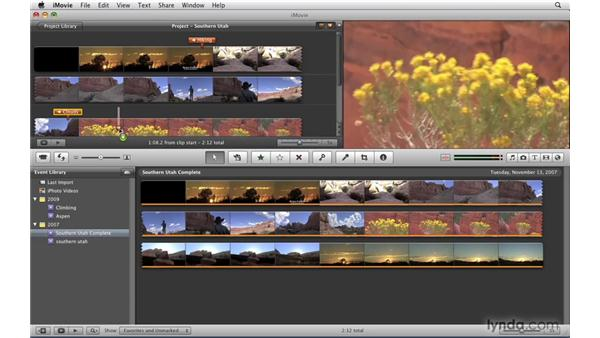 Using iMovie '09 to create chapter markers: iDVD '09 Essential Training