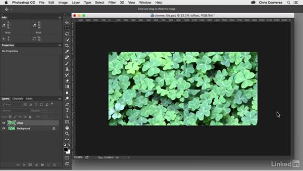 Create the offset for the clovers: Design the Web: Creating a Repeating Background in Photoshop