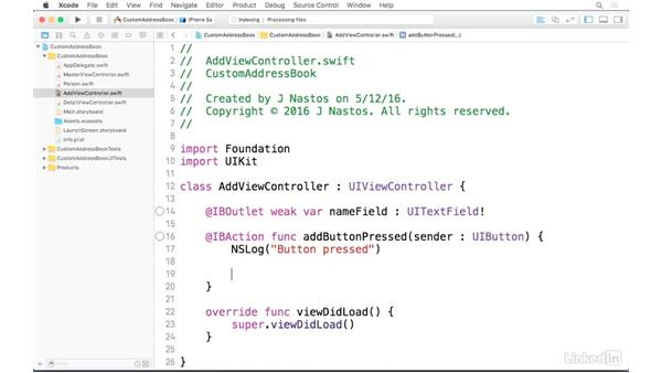 Creating the Person class: iOS Address Book App: Hands On