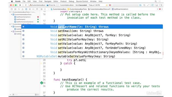 Writing tests for app logic: iOS Address Book App: Hands On