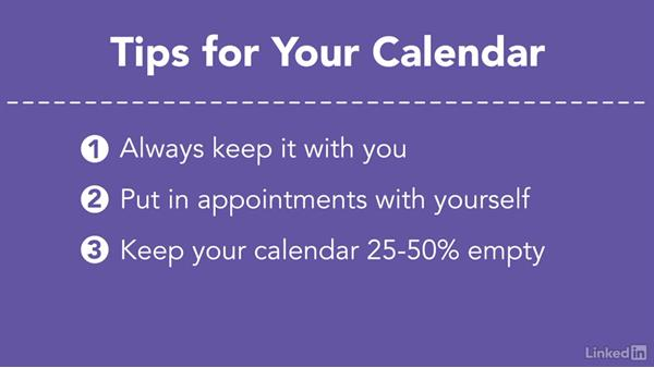 Get the most out of your calendar: Efficient Time Management
