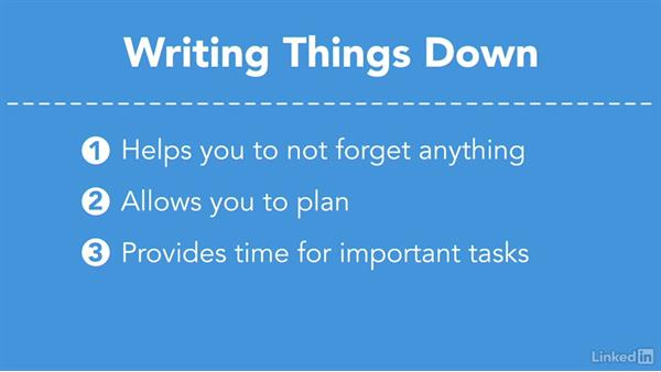 Write everything down: Efficient Time Management