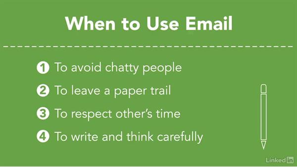 Use the right medium: Email or phone: Efficient Time Management
