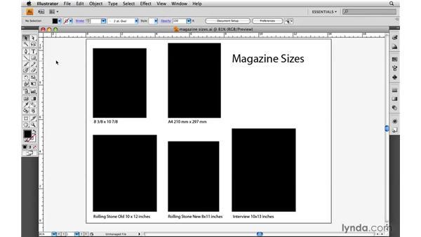 Choosing the magazine size: Designing a Magazine Layout