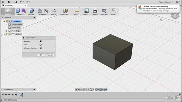 Display settings: Learn Fusion 360: The Basics