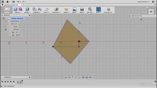 Draw struts: Learn Fusion 360: The Basics
