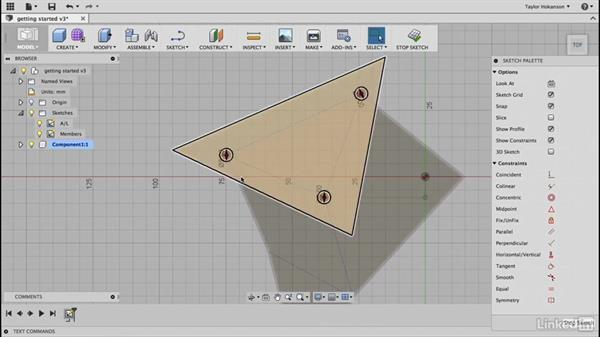 Draw triangles: Learn Fusion 360: The Basics