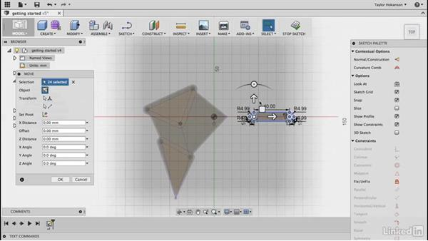 Copy the master strut sketch: Learn Fusion 360: The Basics