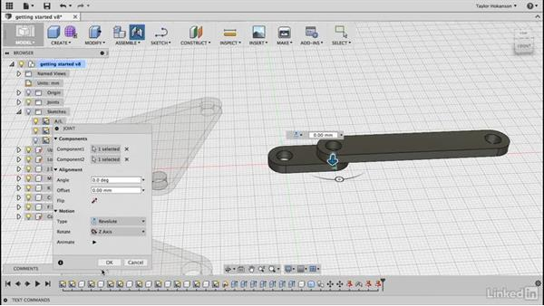Incorporate struts: Learn Fusion 360: The Basics