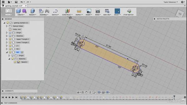 Parametric changes: Learn Fusion 360: The Basics