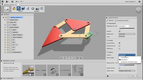 Render: Learn Fusion 360: The Basics
