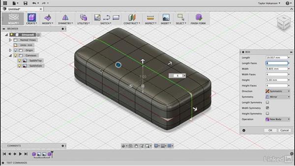 Use the T-Spline box: Learn Fusion 360: The Basics