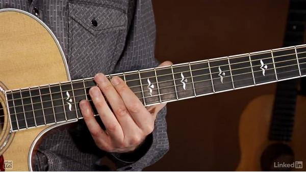 The notes on the fretboard: Beginning Acoustic Guitar