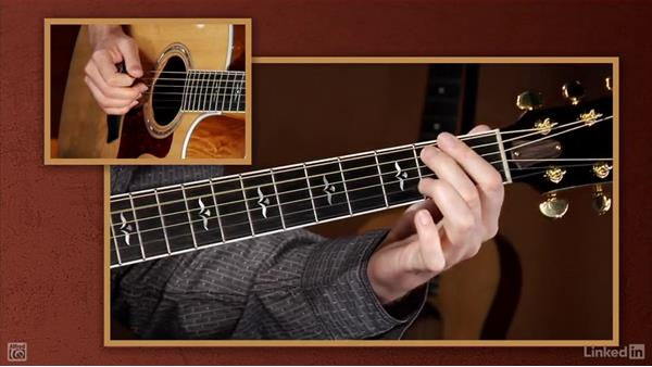 Notes on the 5th and 6th strings: Beginning Acoustic Guitar