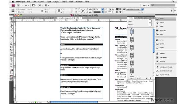 Creating a style spec sheet: Designing a Magazine Layout