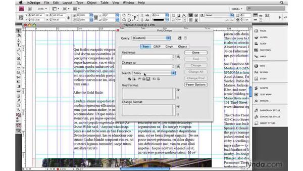 Cleaning up text: Designing a Magazine Layout