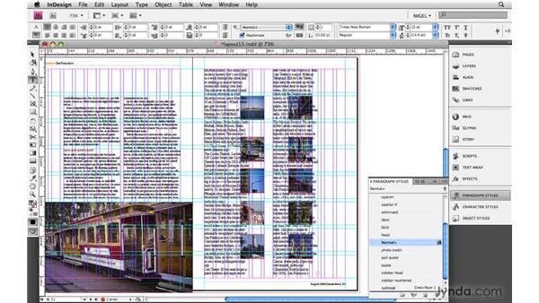 Applying styles: Designing a Magazine Layout