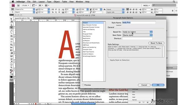 Using drop cap treatments: Designing a Magazine Layout