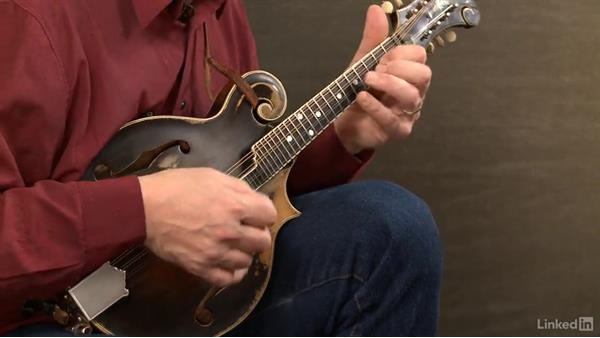 """Using target notes: """"Golden Slippers"""": Mandolin Lessons with Mike Marshall: 2 Soloing Ideas and Kickoffs"""