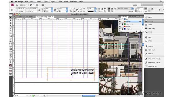 Creating captions: Designing a Magazine Layout