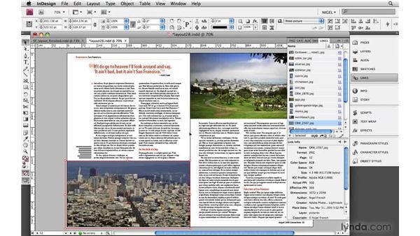 Managing image links: Designing a Magazine Layout