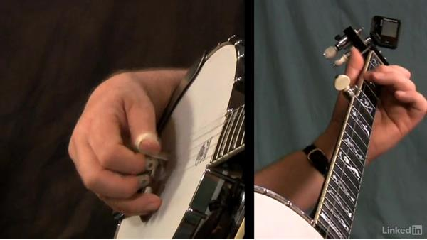 Backward-alternating thumb roll: Part 2: Banjo Lessons with Tony Trischka: 4 Improvisation and Melodic Styles