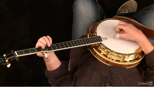 "Osborne roll: ""Boil Them Cabbage Down, "" variation on the 5th fret: Banjo Lessons with Tony Trischka: 1 Fundamentals"