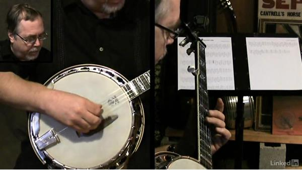 Bridge placement: Banjo Lessons with Tony Trischka: 3 Playing Songs
