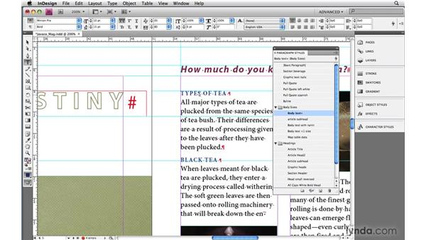 5. Using styles for everything: InDesign CS4: 10 Habits of Highly Effective Pros