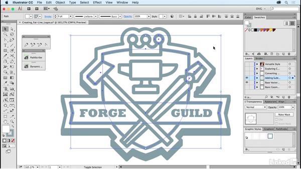 Creating fat-line logos: Foundations of Logo Design: Illustrating Logo Marks