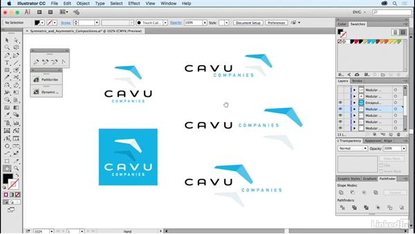 Symmetric and asymmetric compositions: Foundations of Logo Design: Illustrating Logo Marks
