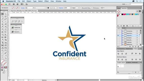 Alignment methods: Foundations of Logo Design: Illustrating Logo Marks
