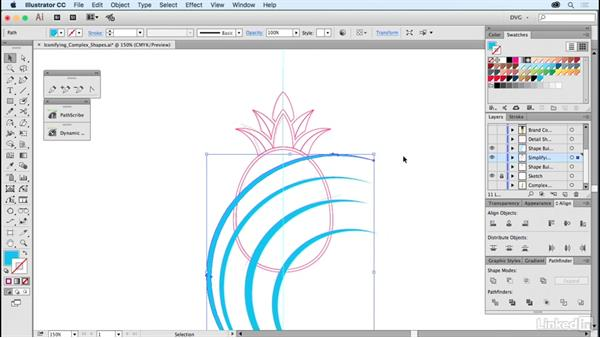 Iconifying complex shapes: Foundations of Logo Design: Illustrating Logo Marks
