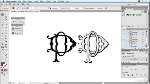 Monogram overlaps: Foundations of Logo Design: Illustrating Logo Marks