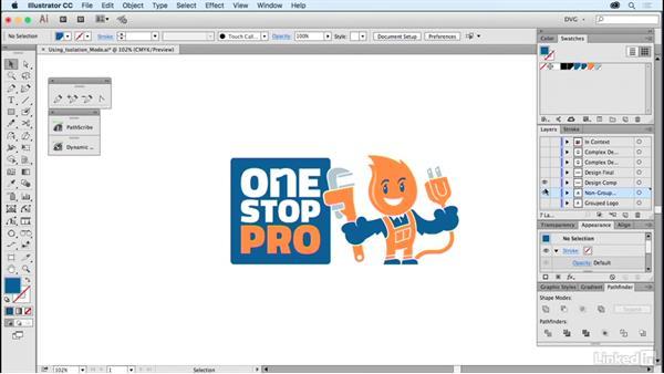 Using isolation mode: Foundations of Logo Design: Illustrating Logo Marks