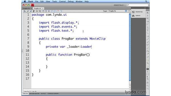 Defining the ProgressBar class: Flash CS4 Professional: Building UI Elements