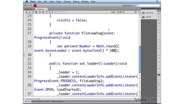 Showing load progress: Flash CS4 Professional: Building UI Elements